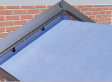Celsius Solid Roof Render - Connection to house, leadwork, wallplate